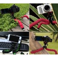 Jual PAKET Fleksibel Gorilla Pod Spider Flexible Mini Tripod Plus Holder HP Murah
