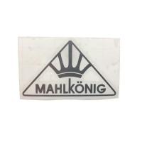 MAHLKONIG Logo Cutting Sticker Small Silver (2 units)