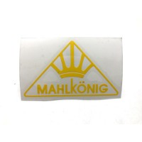 MAHLKONIG Logo Cutting Sticker Small Yellow (2 units)