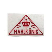 MAHLKONIG Vintage Logo Cutting Sticker Small Red (2 units)