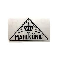 MAHLKONIG Vintage Logo Cutting Sticker Small Black (2 units)