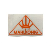 MAHLKONIG Logo Cutting Sticker Small Orange (2 units)