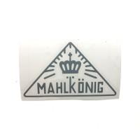 MAHLKONIG Vintage Logo Cutting Sticker Small Grey (2 units)