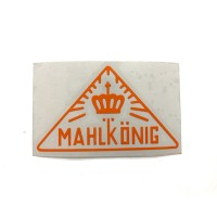 MAHLKONIG Vintage Logo Cutting Sticker Small Orange (2 units)
