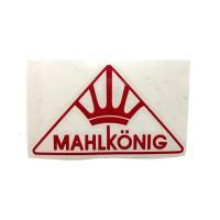 MAHLKONIG Logo Cutting Sticker Small Red (2 units)