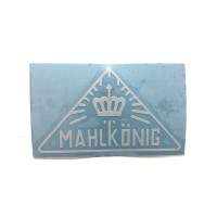 MAHLKONIG Vintage Logo Cutting Sticker Small White (2 units)