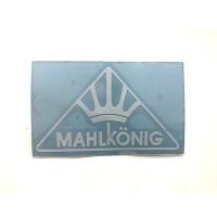 MAHLKONIG Logo Cutting Sticker Small White (2 units)