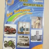 Jual Kain MICROFIBER Handuk Kecil Lap Meja Motor Mobil Serap Air 35x35 320G Murah