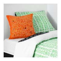 Jual HV4275 IKEA SLINGRIG Bantal 40x40 cm  Putih orange KODE BIS4329 Murah