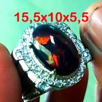 Jual Videro Black Opal Kalimaya Ring Perak Murah