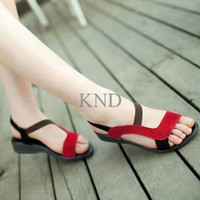 Jual Sepatu Wanita / Cewek Flat Xena Merah KND Murah