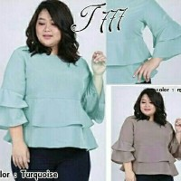 Jual BIG SIZE AMELIA blouse top jumbo milo tosca toska twiscone XL Murah