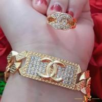 Jual set xuping gelang & cincin Murah