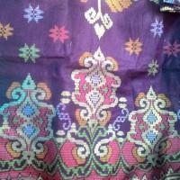Jual batik songket ungu Murah