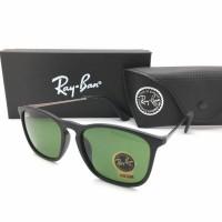 Kacamata Rayban Ray-Ban Crish Cris RB4187 4187 Polarized Hijau Glossy