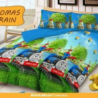 Jual Sprei Kintakun Uk 120 x 200 Thomas Train halus tidak luntur Murah
