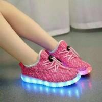 Jual Sepatu anak peremuan LED premium import pink Murah