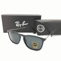 Kacamata Rayban Ray-Ban Crish Cris RB4187 4187 Polarized Hitam doff