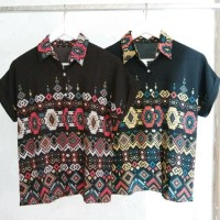 Jual ethnic collar shirt Murah