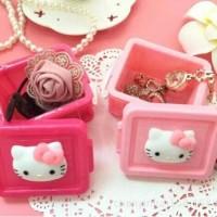 Jual Kotak serbaguna tempat simpan accessories perhiasan jepit hello kitty Murah