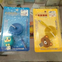 Kabel Charge USB Karakter ( Owl + Rilakuma )