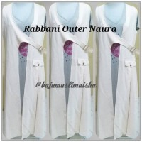 Outer Naura Rabbani, outvest cardigan gamis Atasan formal outer kerja