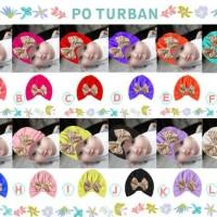 Jual Turban Pita Emas bling 6-36 month baby balita toddler bayi anak kids Murah