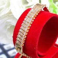 gelang emas kuning dengan berlian eropa asli natural