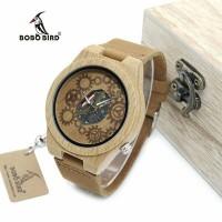 Jual BOBO BIRD WB09 Exposed Movement Design Bamboo Wood Quartz Watches Murah