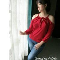 Baju sabrina import bangkok big size atasan blouse wanita evelyn top