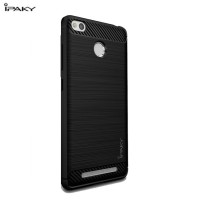 Hard Soft Case Xiaomi Redmi 3s Prime Casing HP IPAKY Carbon Silikon 3D