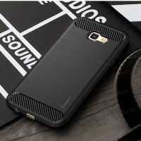 Hard Soft Case Samsung A5 2017 Casing HP IPAKY Carbon Silikon Cover 3D