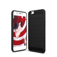 Hard Soft Case Oppo A39 Casing HP IPAKY Carbon Armor Silikon Cover TPU