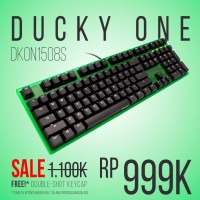 Keyboard Ducky One Blue Switch White Led Green Case DKON1508S-CUSADAGW