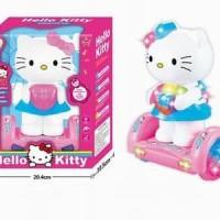 Jual Mainan Anak - Hello Kitty Balanced Car - Figure Pink Mobil Lampu Mus Murah