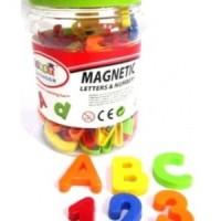 Jual Mainan Edukatif / Edukasi Anak - Alphabet / Huruf - Angka Magnetik Murah