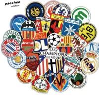 [Clearance Sale] Sticker 50 Tim Sepakbola Juventus MU Madrid Barcelona