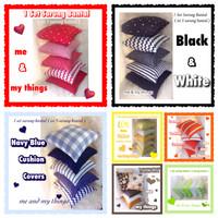 Jual 1 Set Sarung Bantal (5 sarung bantal) Sofa Kursi Kepala Kamar 40x40 Murah