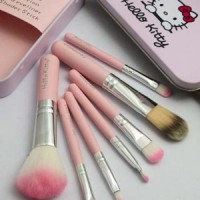 Jual KUAS MAKE UP HELLO KITTY NEW PACKING KALENG Murah