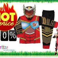 Jual Baju Anak / Stelan / Kostum Topeng Superhero Satria Garuda Bima X Murah