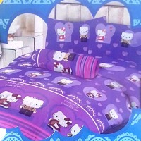 Jual Sprei Lady Rose Disperse 120 2in1 Sorong - Hello Kitty Limited Murah