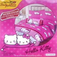 Jual Sprei Lady Rose Disperse 120 2in1 Sorong - Hello Kitty Berkualitas Murah