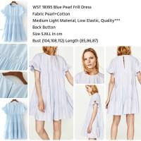 Jual WST 18395 - Blue Pearl Frill Dress Murah