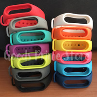Strap Silicone / Silikon Xiaomi Mi Band 2 OLED Replacement Gelang OEM