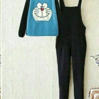 Jual Jumpsuit Overall Doraemon Set Kekinian TfM-918 Murah