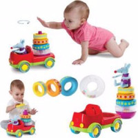 mainan anak kreatif Taf Toys Stacker Truck