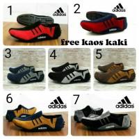 Sepatu Casual Adidas Slip on Kickers Casual Slop Kulit Slip on