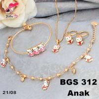 Jual Set Xuping Emas Anak Hello Kitty Anak  Murah