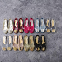 Jual SALVATORE FERRAGAMO FLAT JELLY SHOES MIRROR QUALITY Murah