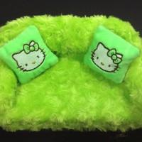 Jual Tempat tissue hello kitty sofa snail / sarung kotak tissue Murah